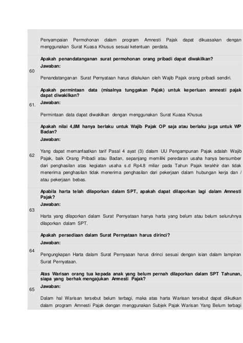 Surat Kuasa Khusus Tax Amnesty by Tanya Jawab Seputartaxamnesty