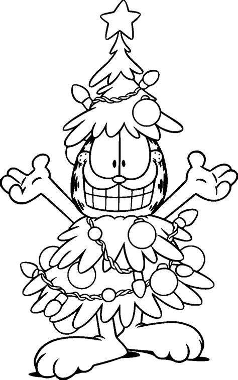 garfield coloring pages simple garfield christmas tree costume garfield coloring pages