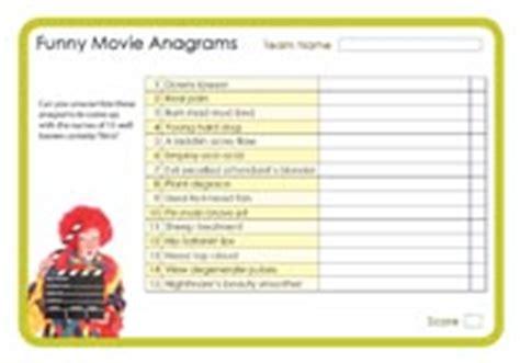 film quiz anagrams funny movie anagrams 2