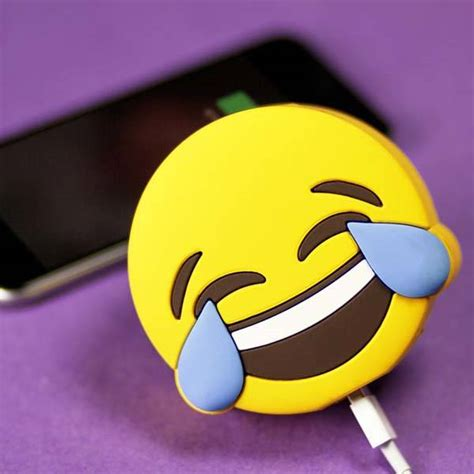 Power Bank Emoji the emoji power bank charges your smartphone with your favorite emoji gadgetsin