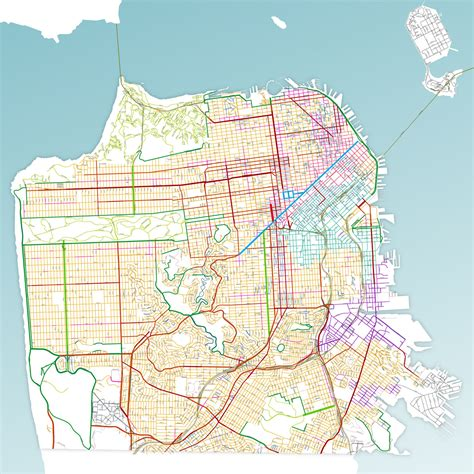 san francisco road map pdf types sf better streets