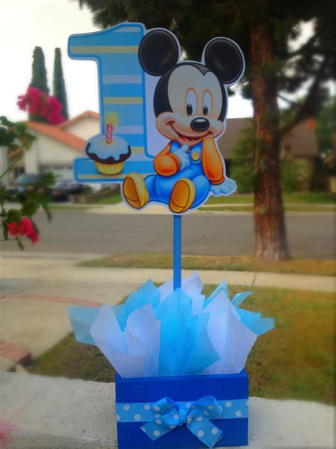 Mickey Mouse Table L by Baby Mickey Mouse Guest Table Centerpiece Favor For 1st