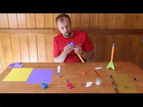 How To Make A Paper Spaceship That Flies - how to make a paper rocket that flies