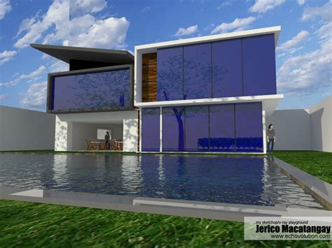 home design using google sketchup modern house design 2 my sketchup v ray playground