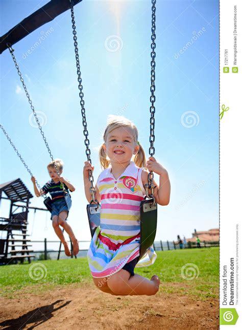 child swing child on swing stock image image 17217761