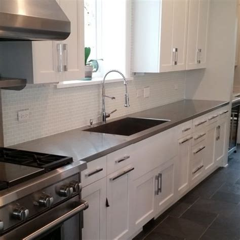 Cost Stainless Steel Countertops by Copper Countertops Custom Metal Home