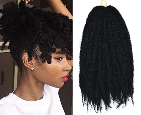 is it different lengths to marely braiding hair marley afro braid hair extensions kinky curly bulk twist