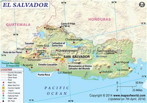Hn Top Limited el salvador map map of el salvador