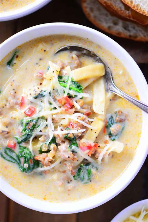 italian soup italian sausage soup recipe the gunny sack