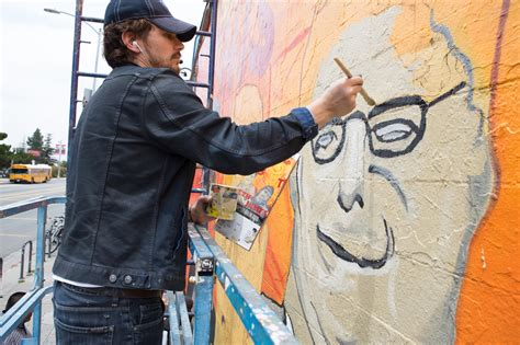 painting now this is the end band tv spot franco s mural