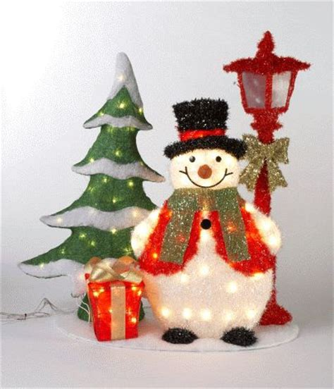 outdoor snowman decorations lights trees led lights