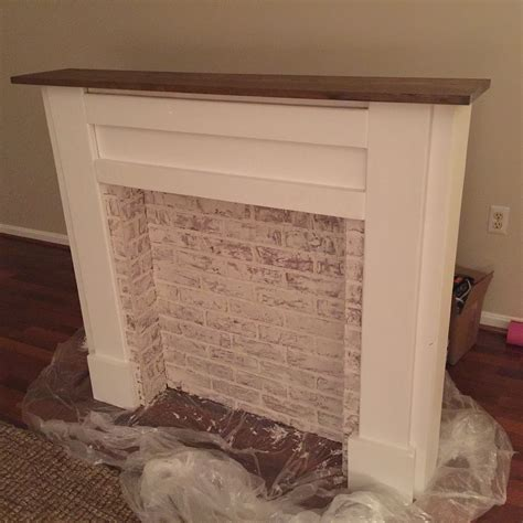 white faux fireplace mantel diy projects