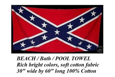 rebel flag bathroom accessories confederate rebel flag southern big 30x60 quot cotton bath beach pool towel wrap other