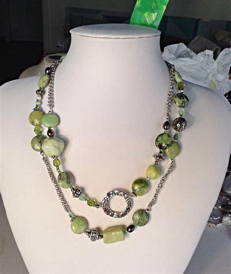 Handmade Semi Precious Necklaces - handmade flower turquoise semi precious stones and