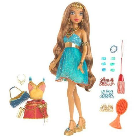 design a doll maddison my scene dolls barbie my scene golden bling madison doll