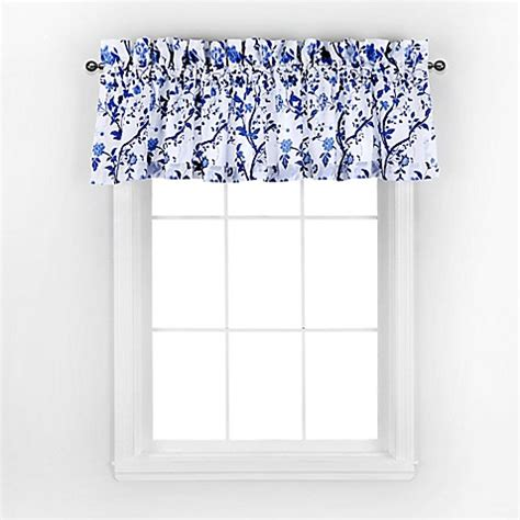 laura ashley blue curtains laura ashley 174 charlotte window valance in china blue bed