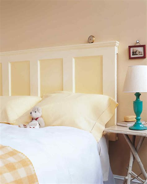 how to make headboard from door door headboard martha stewart