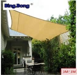sail cloth awnings sun shade sail cloth shading net 3 3m square fabric gazebo