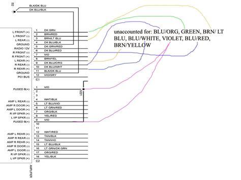 stereo wiring diagram    dodge ram