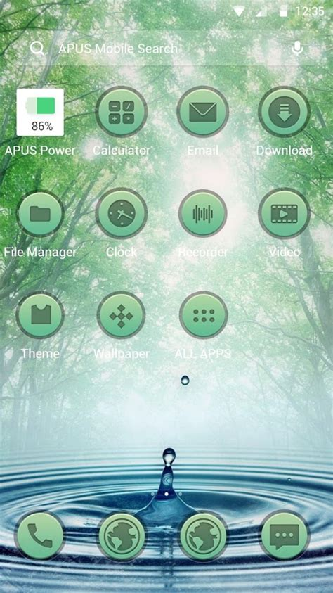 themes apus launcher forest green frees theme apus launcher theme android
