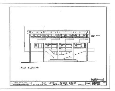 lovell beach house plans rudolph m schindler lovell beach house 1926 west elevation rudolph m schindler
