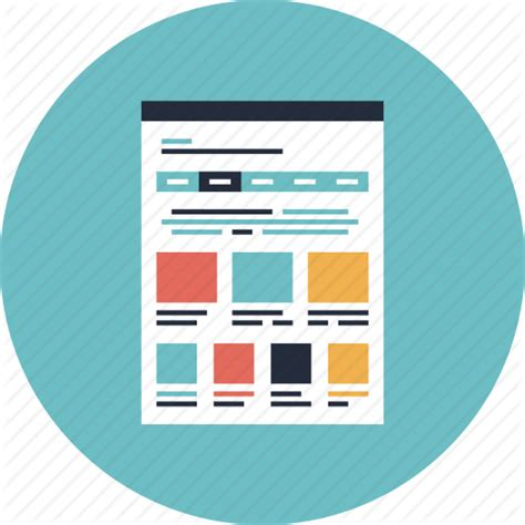 web layout icon browser design development homepage html interface