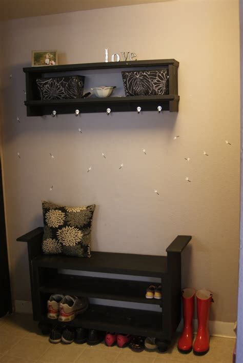 entryway coat rack with shoe storage pdf diy entryway shoe storage bench plans download finish