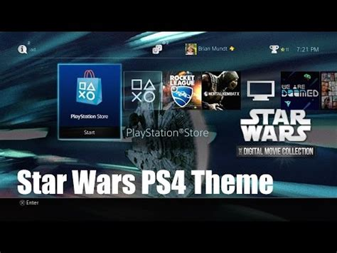 themes ps4 star wars a look at the star wars ps4 theme youtube