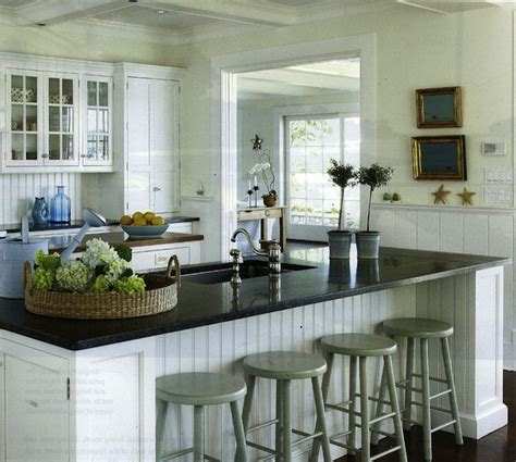 beadboard island design kitchens coffered ceiling sink in
