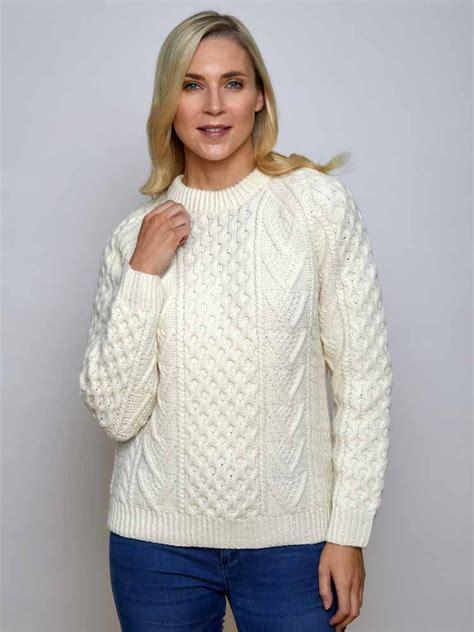 custom knit sweater s aran knit sweater vintage crew neck wool