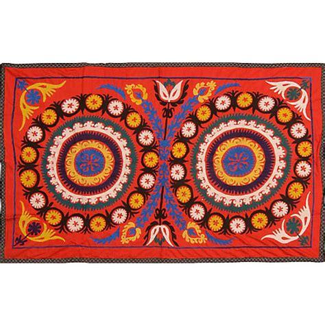 uzbek hand embroidered silk suzani one kings lane airy bohemian style one kings lane