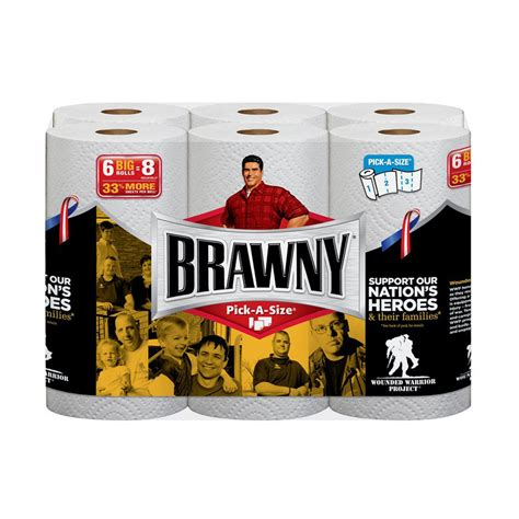 Lowe S Home Plans shop brawny 6 count paper towels at lowes com