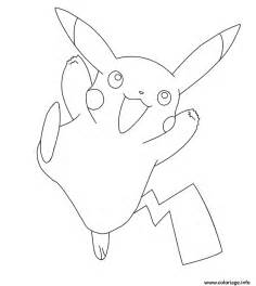 coloriage pikachu pokemon jecolorie