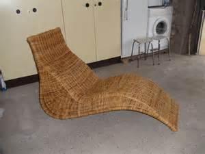 chaise longue osier jardin