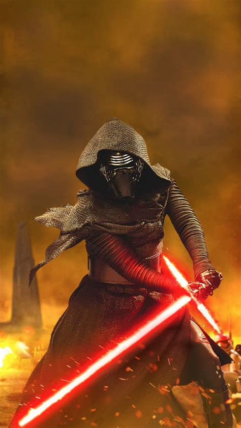 kylo ren wallpaper hd iphone 6 kylo ren iphone 5 wallpaper 640x1136
