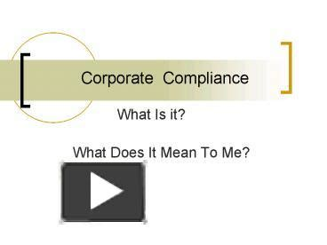 Ppt Corporate Compliance Powerpoint Presentation Free To Download Id 433814 Yzfiy Compliance Ppt Template