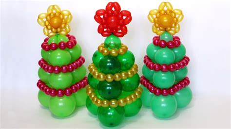 how to make a balloon christmas tree tree of balloons tutorial subtitles