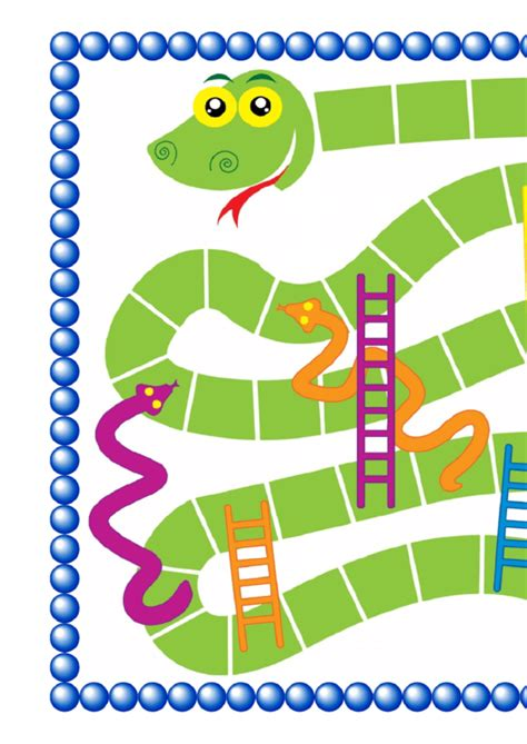 snakes and ladders template printable pdf