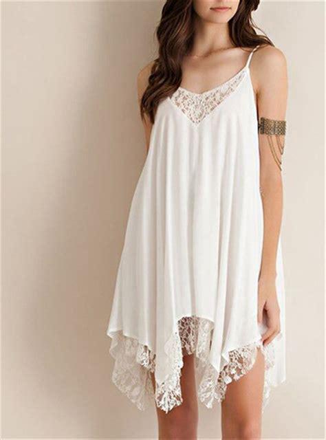 Mini Dress Chiffon chiffon mini dress white spaghetti straps