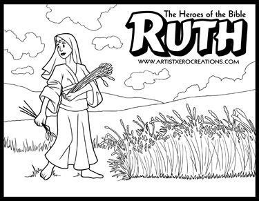 coloring pages for the book of ruth ruth bible coloring pages coloring pages