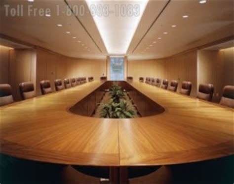 Wood Veneer Conference Tables   Large Oversized Office