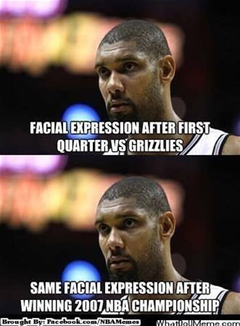Tim Duncan Meme - nba memes tim duncan hahaha that expression almost never