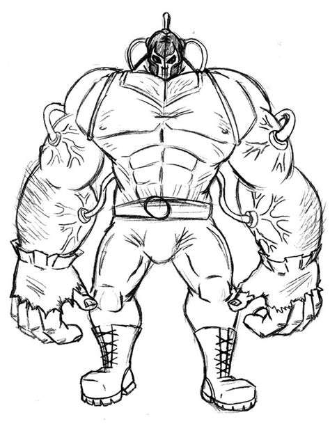 big strong arm of bane batman coloring pages best place