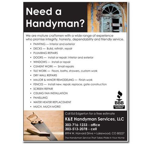 Handyman Flyer Template Free