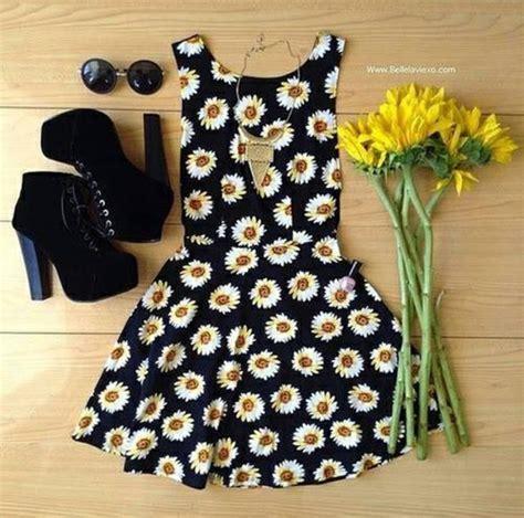 Dress: sunflower, daisy, hot, short, perfection, sunflower