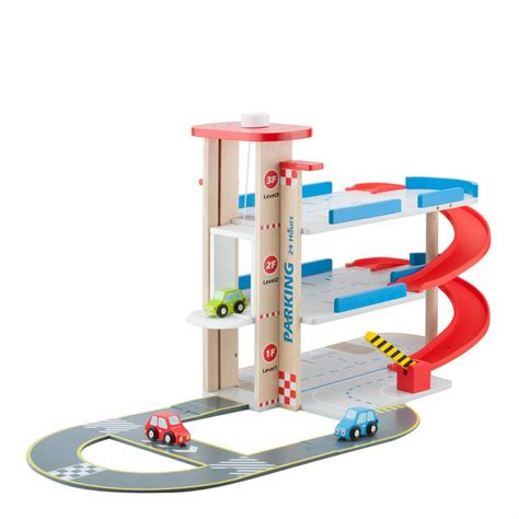 Cars Parking Track parking garage with track and 3 cars playset brandalley