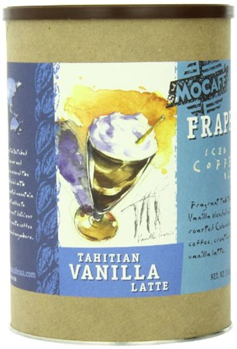 Coffee Consumers   MOCAFE Frappe Tahitian Vanilla Latte, Ice Blended Coffee, 3 Pound Tin
