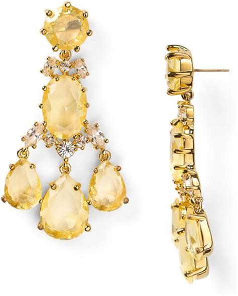 Kate Spade Chandelier Earrings Kate Spade Up The Ante Statement Chandelier Earrings In Yellow Lyst