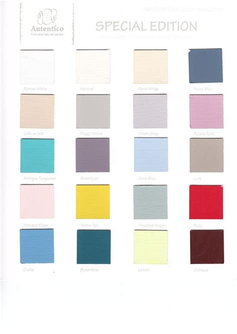 16 best images about color charts autentico vintage chalk paint kolory autentico wzorniki