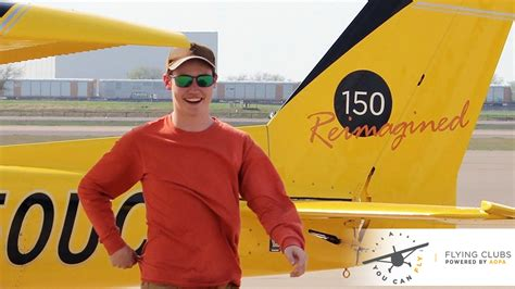 Flight Club Giveaway - student pilot has first solo in aopa 150 giveaway airplane